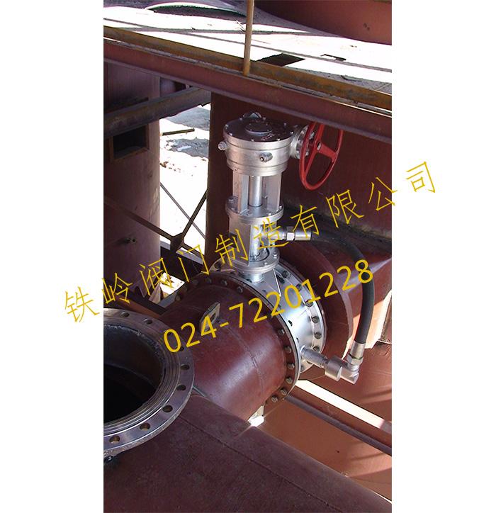 干馏炉供热风DN600高温阀门